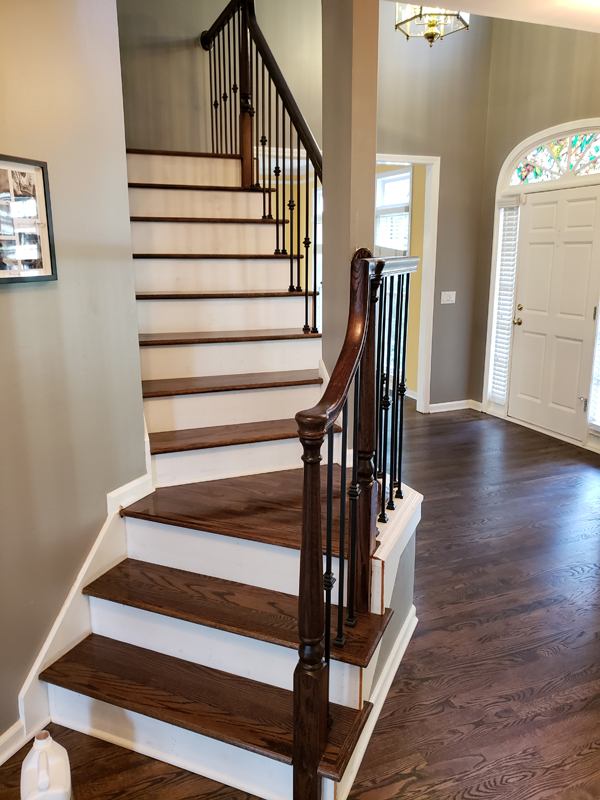Staircase And Banister Refinishing